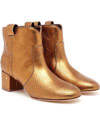 Laurence Dacade Belen Metallic Python Ankle Boots - Lyst