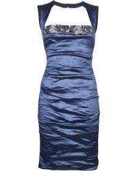 Nicole Miller Beaded Tank Dress - Lyst