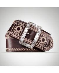 Ralph Lauren Embroidered Trench buckle Belt - Lyst