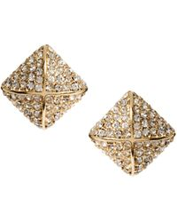 Asos Stone Pillow Earrings - Lyst