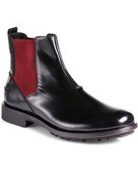 Fendi Leather Chelsea Boots - Lyst