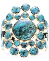 Isharya - Gold-Plated Cuff With Turquoise - Lyst