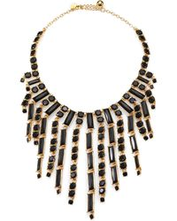Kate Spade City Skyline Fringed Bib Necklace - Lyst