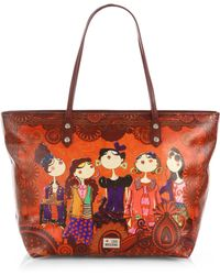 Love Moschino Charming Printed Borsa Manici Tote - Lyst