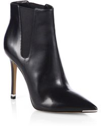 Michael Kors Andie Leather Ankle Boots - Lyst