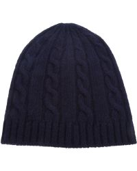 Saint Laurent - Knit Beanie Hat - Lyst f8ad2a1ad3b8