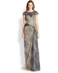 Tadashi Shoji Lace Illusion Gown - Lyst