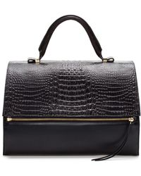 Zara Leather Citybag with Zip - Lyst