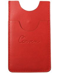 Carven - Leather Logo Iphone 5 Holder Red - Lyst