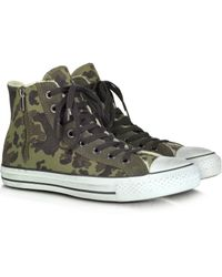 Converse Canvas And Shearling High Top Sneaker - Lyst