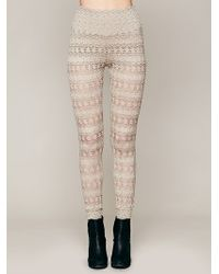 Free People Autumn Leaves Lace Pants - Lyst