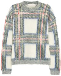 Stella McCartney Plaid-intarsia Knitted Sweater - Lyst