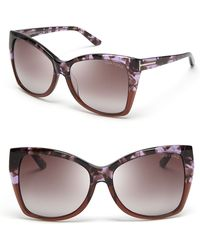 Tom Ford Carli Oversize Square Cateye Sunglasses - Lyst
