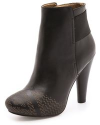 Twelfth Street Cynthia Vincent - Talan Etched Booties - Lyst
