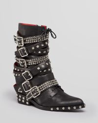 Jeffrey Campbell Wedge Booties Draco Studded - Lyst