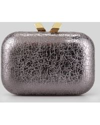 KOTUR Margo Crinkled Metallic Box Clutch Bag - Lyst