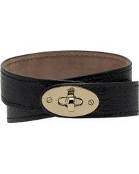 Mulberry Bayswater Double-wrap Bracelet black - Lyst