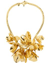 Juicy Couture - Flower Goldplated Cubic Zirconia Necklace - Lyst