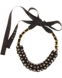 Marni Crystal Bead Embellished Necklace - Lyst