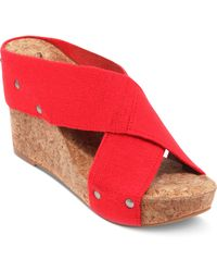 Lucky Brand Miller2 Wedge Sandals - Lyst