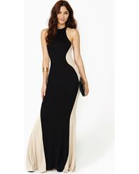 Nasty Gal Dark Silhouette Maxi Dress - Lyst