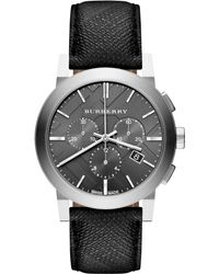 Burberry Mens Swiss Chronograph Beat Check Fabric Strap 42mm - Lyst