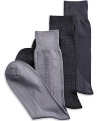 Calvin Klein 3-Pack Microfiber Dress Socks black - Lyst