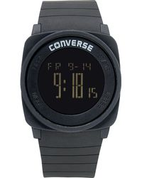 Converse | Unisex Digital Full Court Black Silicone Strap 45mm Vr034001 | Lyst