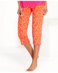 DKNY Floral Capri Pajama Pants - Lyst
