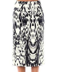 Giambattista Valli Couture Abstract Lynx Print Silk Skirt - Lyst