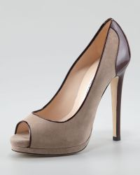 Oscar de la Renta Vergine Mixed-media Pump - Lyst