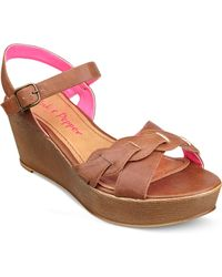 Pink And Pepper - Circuit Platform Wedge Sandals - Lyst