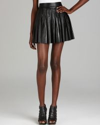 Alice + Olivia Skirt - Leather Box Pleat - Lyst