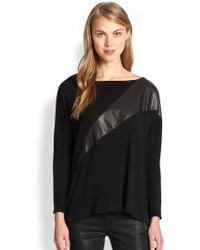 Alice + Olivia Slouchy Pullover Top - Lyst