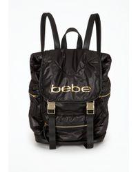 Bebe - Logo Nylon Backpack - Lyst