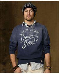 Denim & Supply Ralph Lauren Long Sleeve Fleece Crewneck Sweater - Lyst