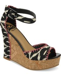 Fergie | Fergalicious Shoes Quiztime Platform Wedge Sandals | Lyst