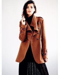 Free People Military Wool Coat - Lyst