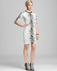 French connection Dress Ombre Bark Jersey Animal - Lyst