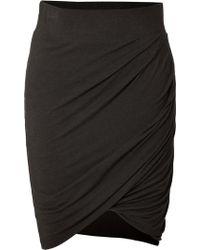 Helmut Jersey Asymmetric Draped Skirt in Charcoal - Lyst