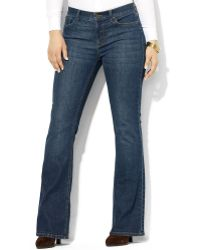 Lauren by Ralph Lauren - Lauren Jeans Co Plus Size Jeans Slimming Bootcut Harbor Wash - Lyst