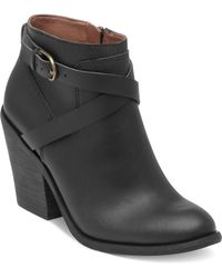 Lucky Brand Lucky Boots Eloy Buckle Booties - Lyst