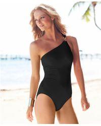 Michael Kors Michael One-Shoulder Asymmetrical One-Piece Swimsuit - Lyst
