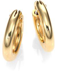 Roberto Coin 18K Yellow Gold Petite Oval Hoop Earrings/0.75 - Lyst