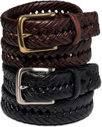 Tommy Hilfiger Braided Leather Belt - Lyst