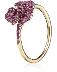 AS29 - Pink Mini Pave Flower Ring - Lyst