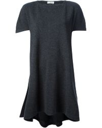 Balenciaga Pleated Sweater Dress - Lyst