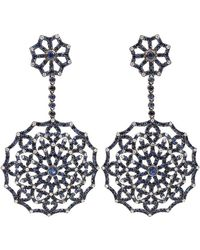 Bochic - Blue Sapphire and Diamond Earrings - Lyst