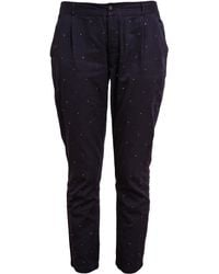 Chinti & Parker Mirror Flecked Cotton Trousers - Lyst