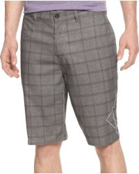 DC Shoes - Land to Water Plaid Lanaibrid Shorts - Lyst
